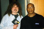 Peter with Billy Cobham.